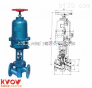 J6B41FS-16型气动氟塑料截止阀(常闭式)