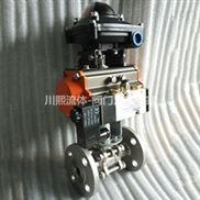 Q641F-法兰式三片式气动球阀|气动高压球阀