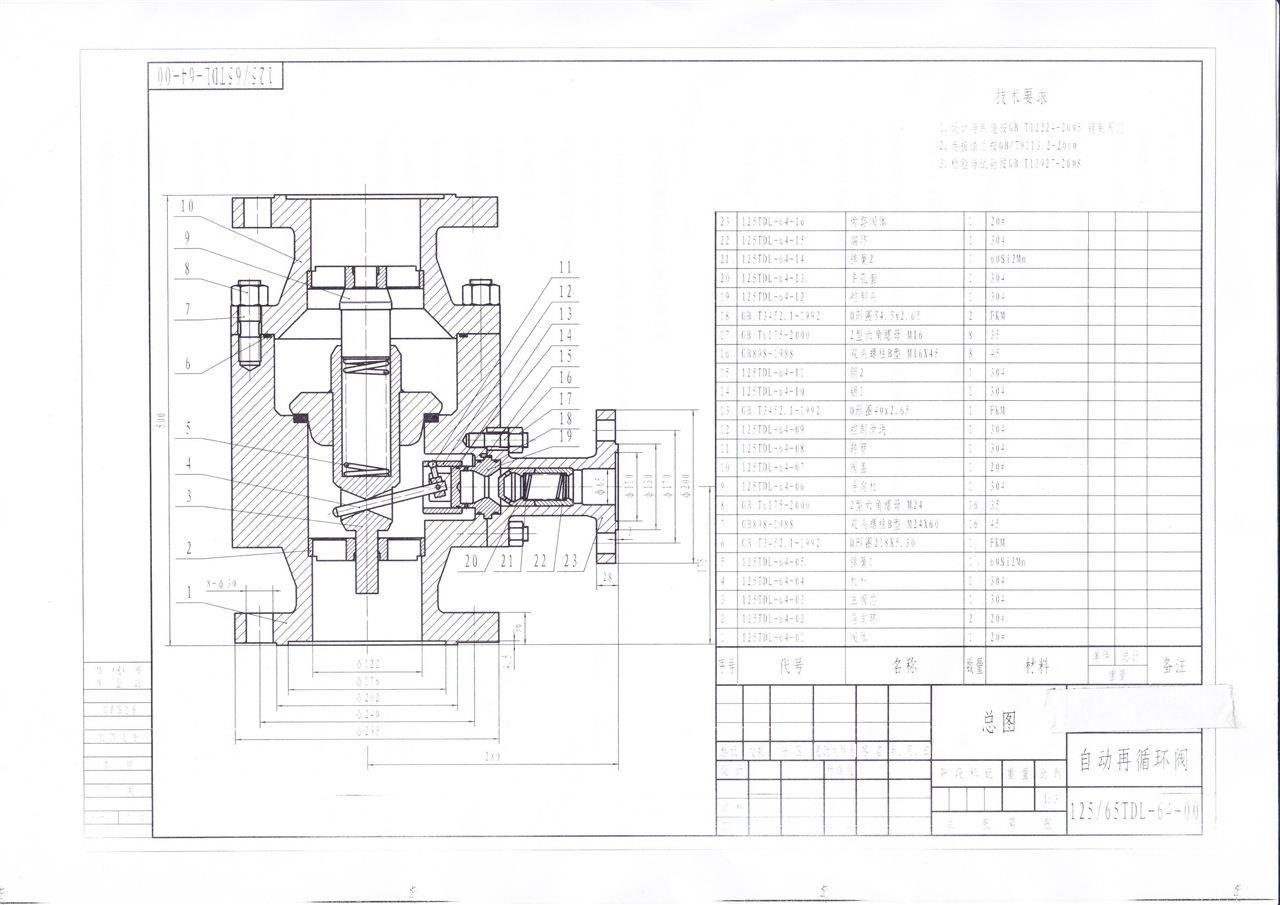 自动再循环泵保护阀结构图